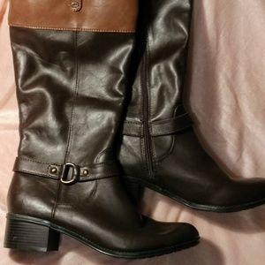 Bandolino Chocolate brown & brown Riding Boots NWT